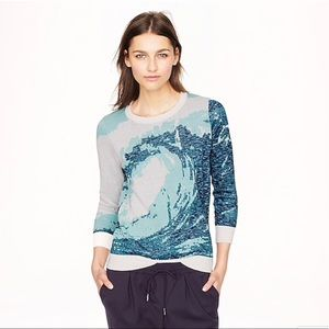 J. Crew Collection • Metallic Wave Sweater Sz S